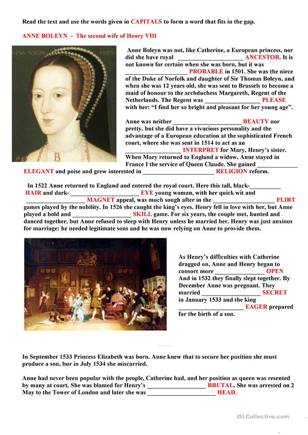 THE SECOND WIFE OF HENRY VIII