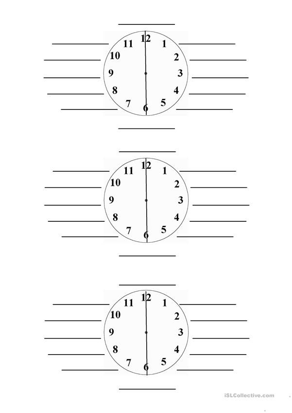 What time is it? - Pupil sheet
