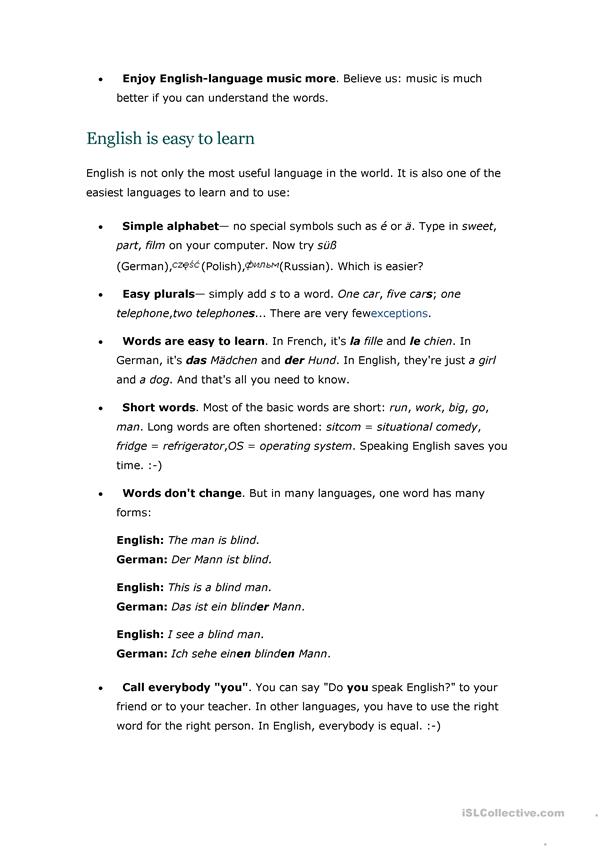 Why Learn English