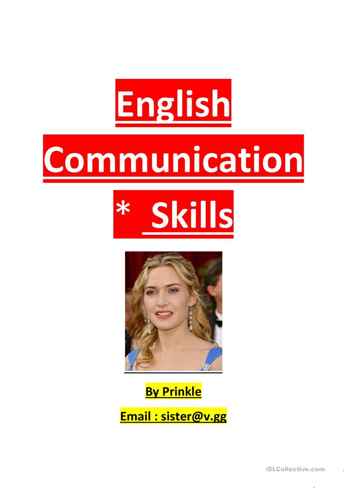 English Communication Skill - ESL worksheets