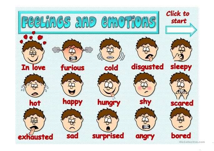 Feelings and emotions - GAME - ESL powerpoints