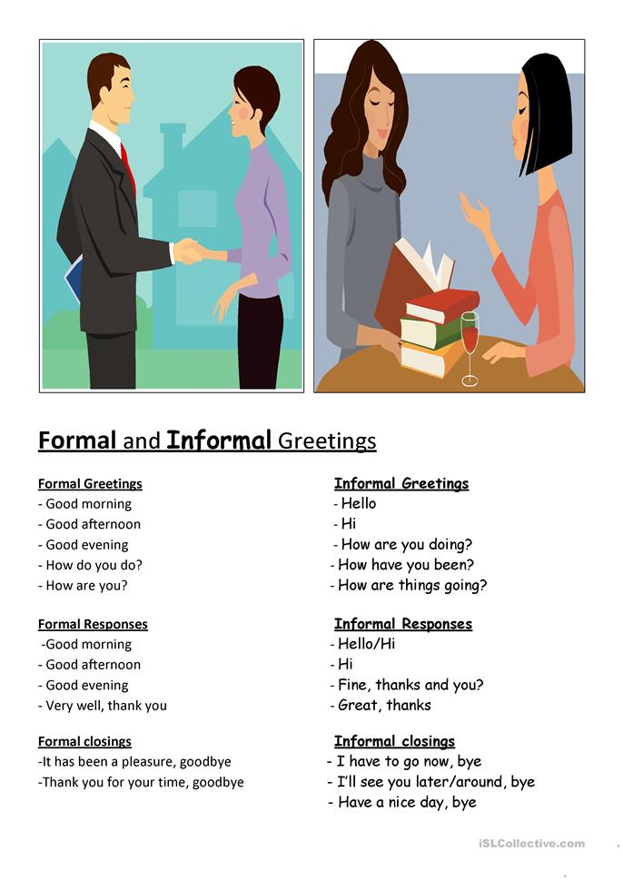 the role of formal and informal