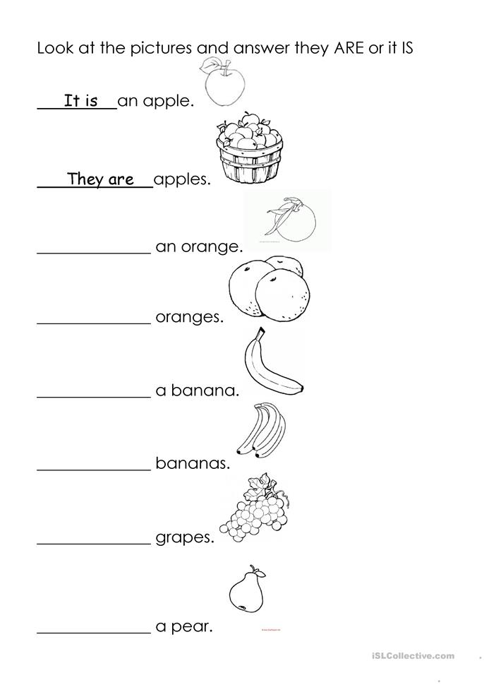 It is they are  - ESL worksheets