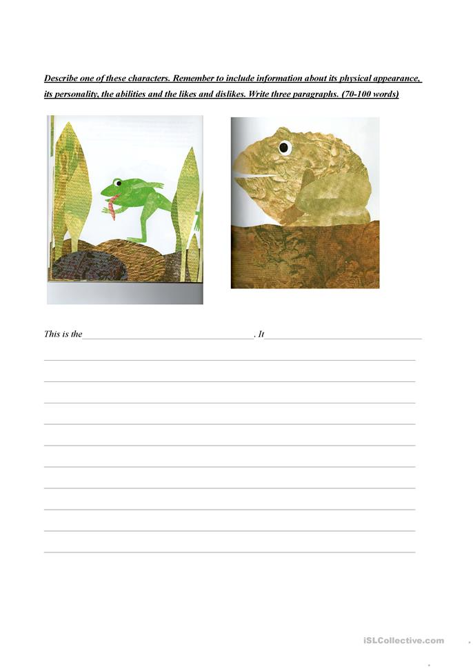 Frog And Toad Worksheets