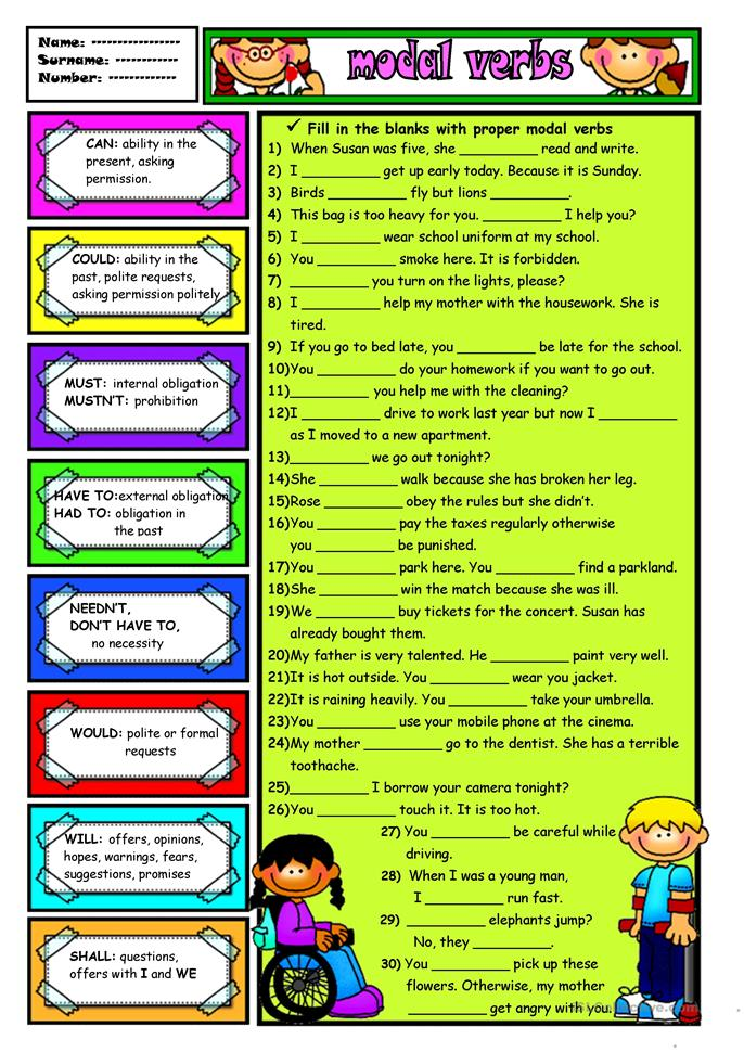 MODAL VERBS-1 - ESL worksheets