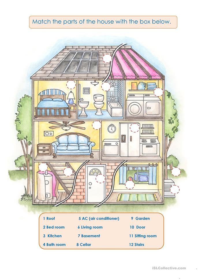 YOUR DREAM HOUSE worksheet Free ESL printable worksheets