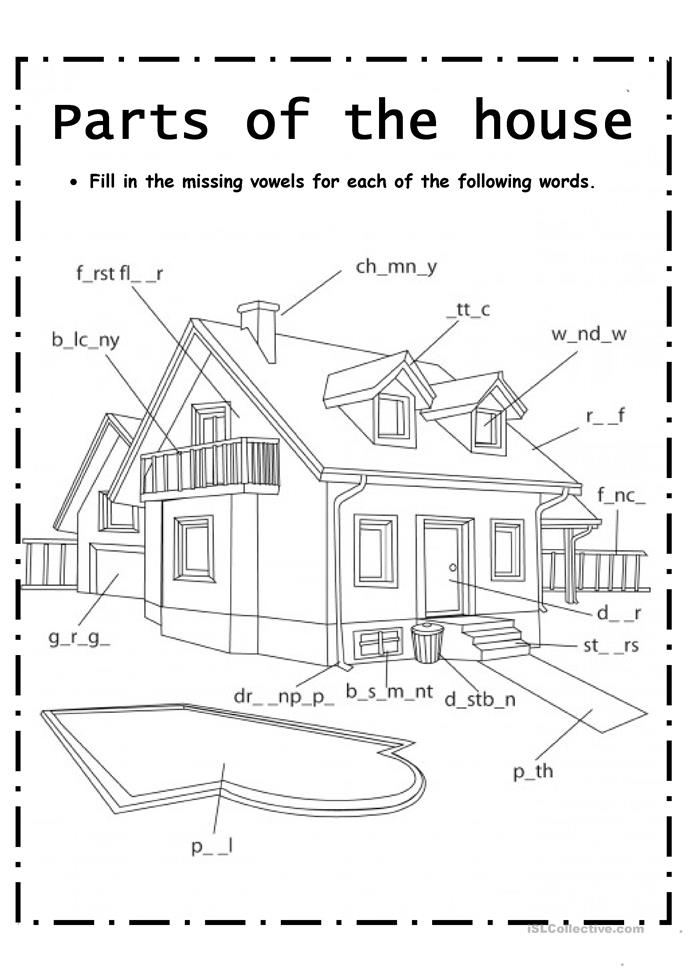Parts Of House Worksheet Free Esl Printable Worksheets