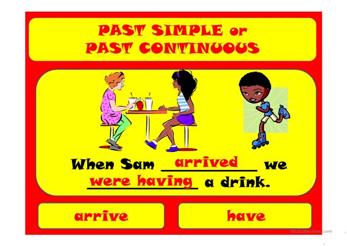 Past simple & past continuous - ESL worksheets