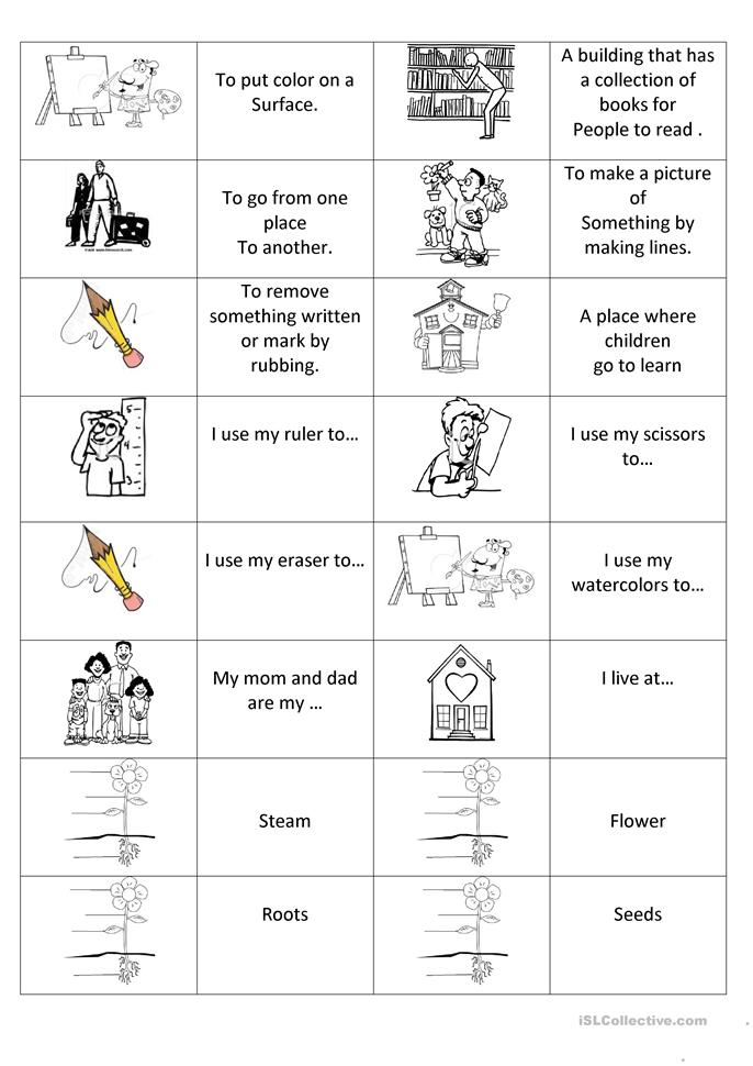 Personal pronouns domino - ESL worksheets