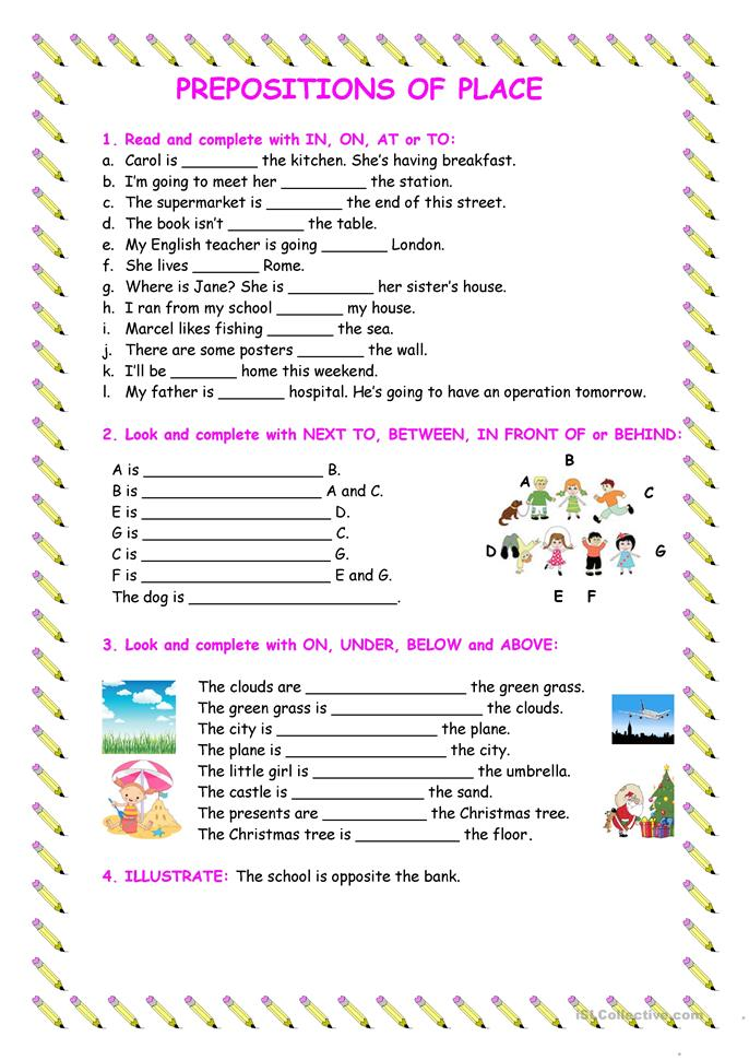 Prepositions Of Place Worksheet S Prepositions Of Place Part 3 ...