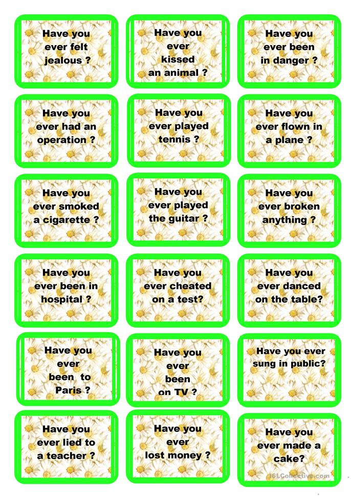 Speaking cards Present Perfect. - ESL worksheets