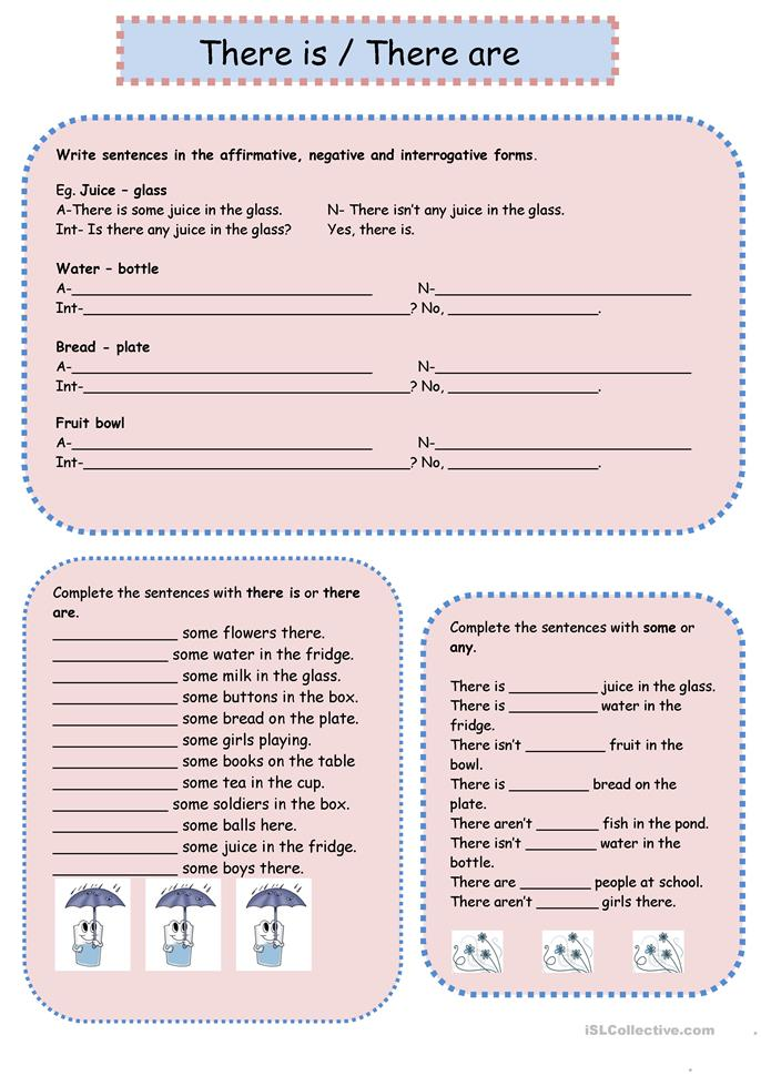 There is there are + some and any worksheet - Free ESL printable worksheets made by teachers