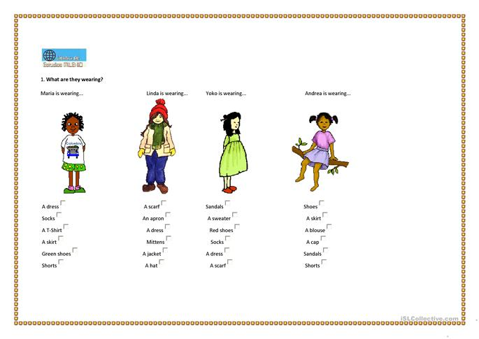 ... wearing? worksheet - Free ESL printable worksheets made by teachers