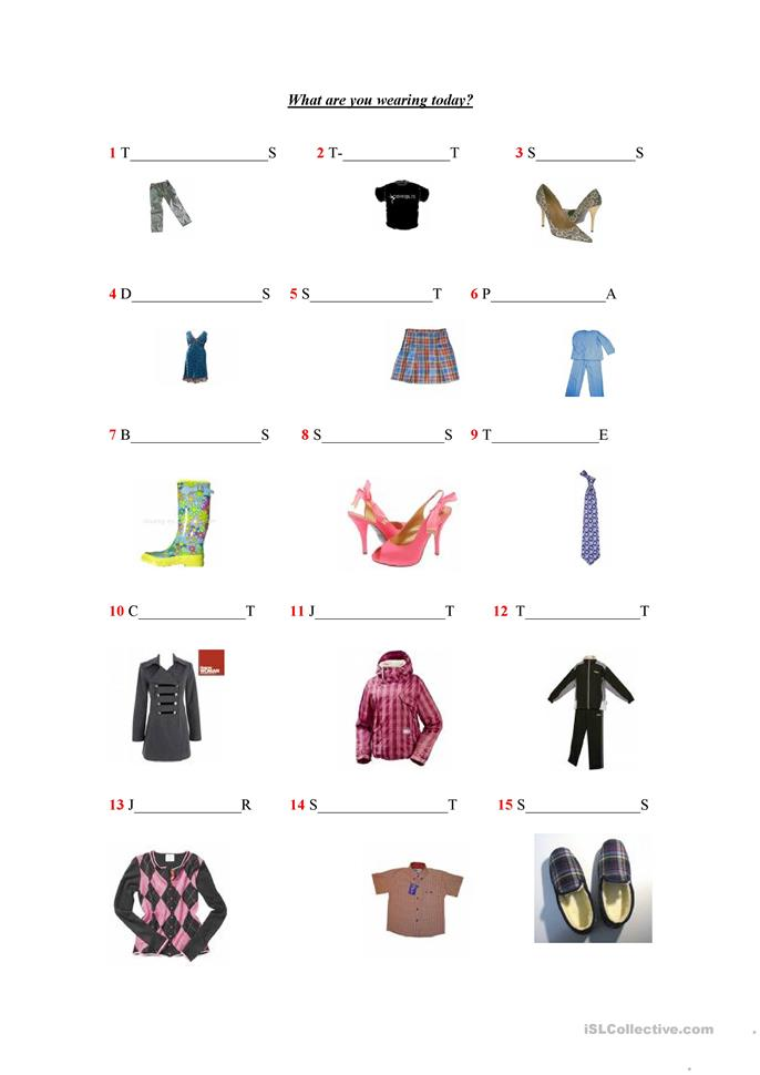 What are you wearing? - ESL worksheets
