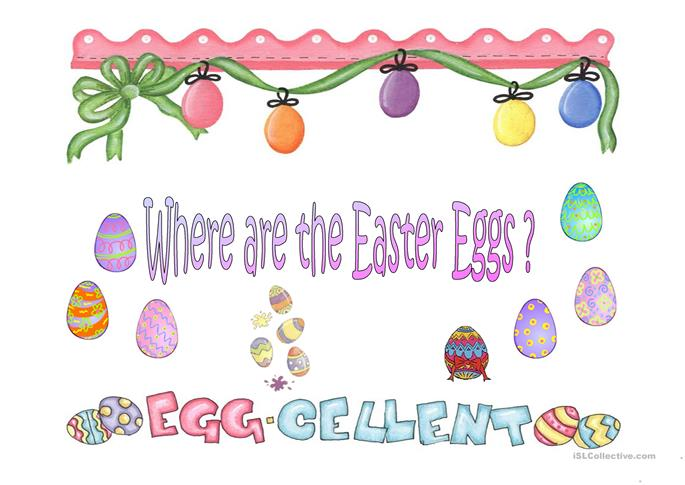 Where are the Easter eggs? - ESL powerpoints