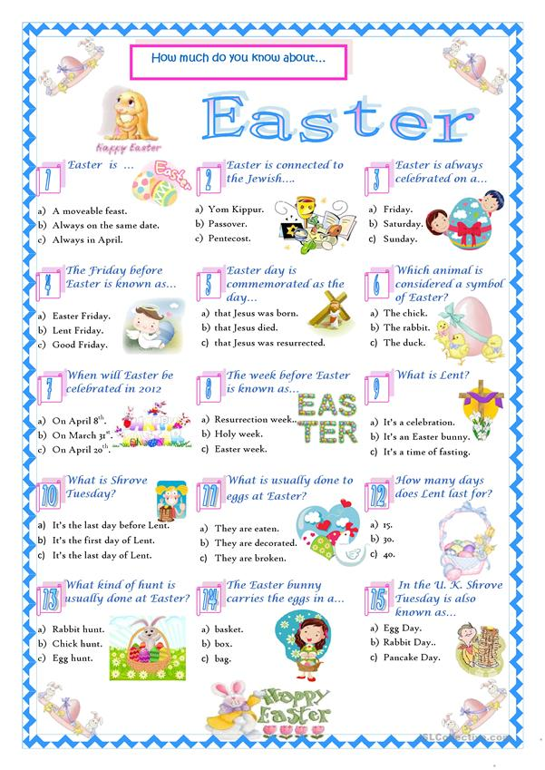 It is a photo of Persnickety Easter Trivia Questions and Answers Printable