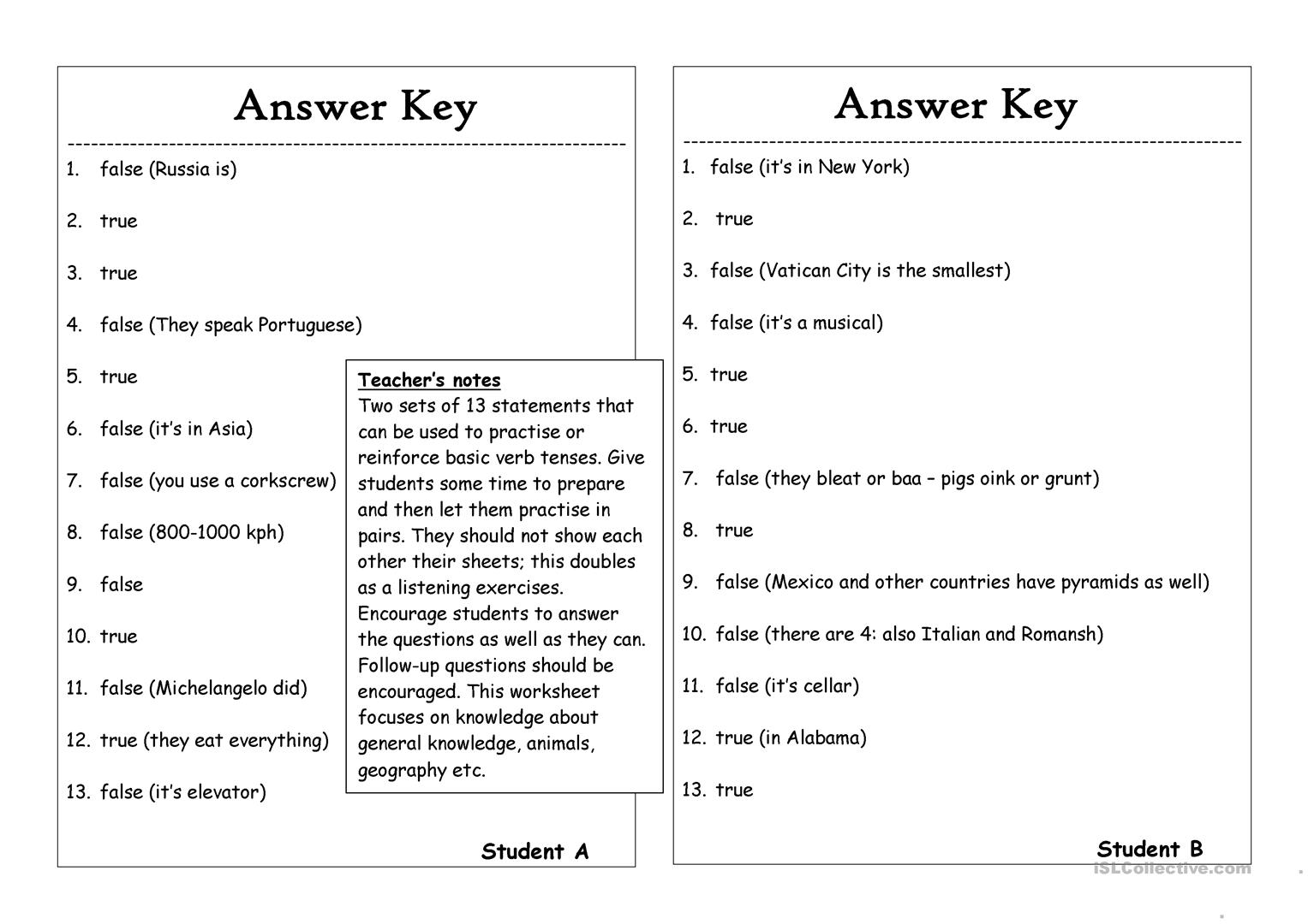 13 Questions  7  - Statements