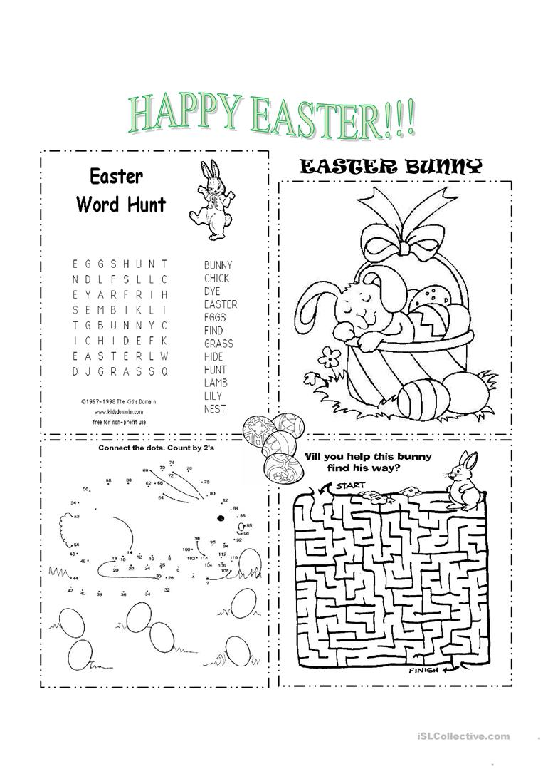 Wild image for printable easter activities