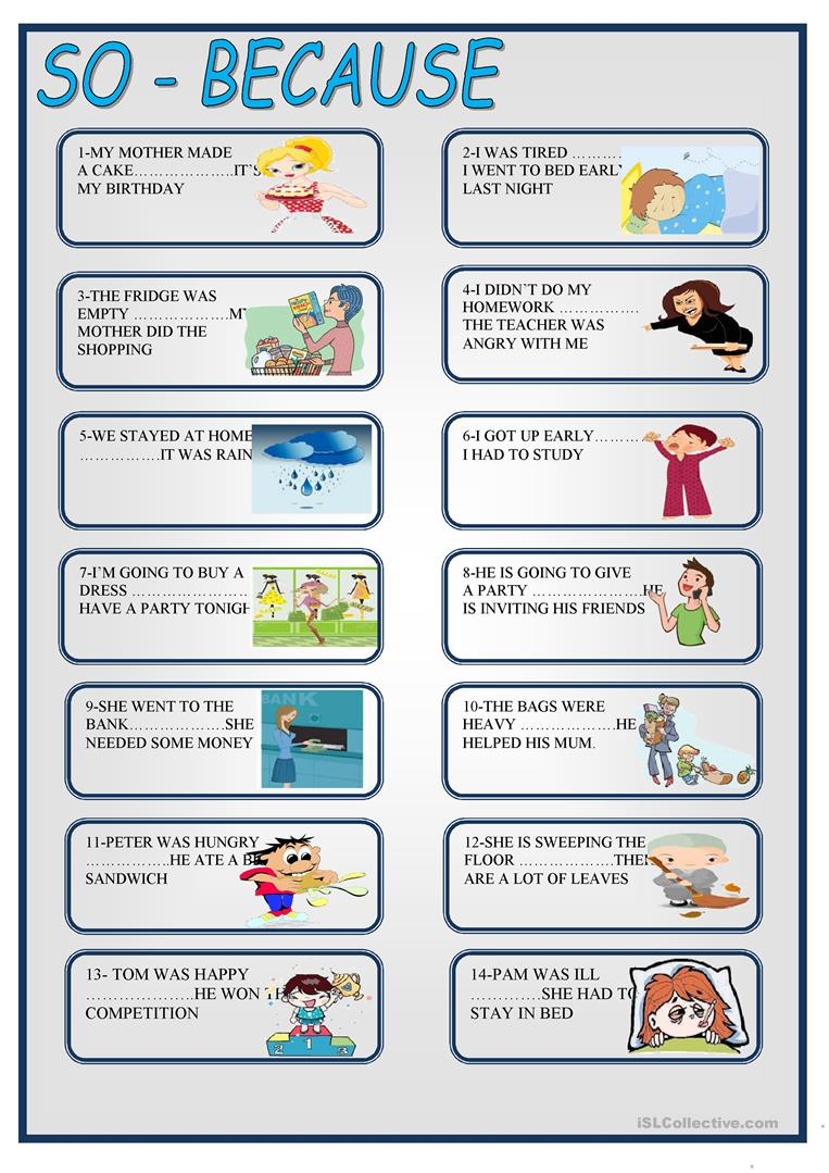 additionally English Exercises  SO AND BUT BECAUSE likewise Conjunctions  So and Because additionally first grade conjunction worksheets besides Link to material    learnenglishteens britishcouncil org moreover And So But Because Worksheet Free Printable Worksheets Made Theater moreover And So But Because Worksheet Free Printable Worksheets Made By furthermore Conjunction Sentences Worksheets 5 Kids Exercises With Answers further  moreover SO BECAUSE BOARD GAME worksheet   Free ESL printable worksheets made also  as well conjunctions and but or worksheets in addition and but because so   ESL worksheet by haipoc further And  But  Because  So Exercise Worksheet for 4th   6th Grade moreover Conjunctions ESL Printable Worksheets and Exercises as well Conjunction Worksheets For Grade 3 And So But Because Worksheet Free. on and so but because worksheets