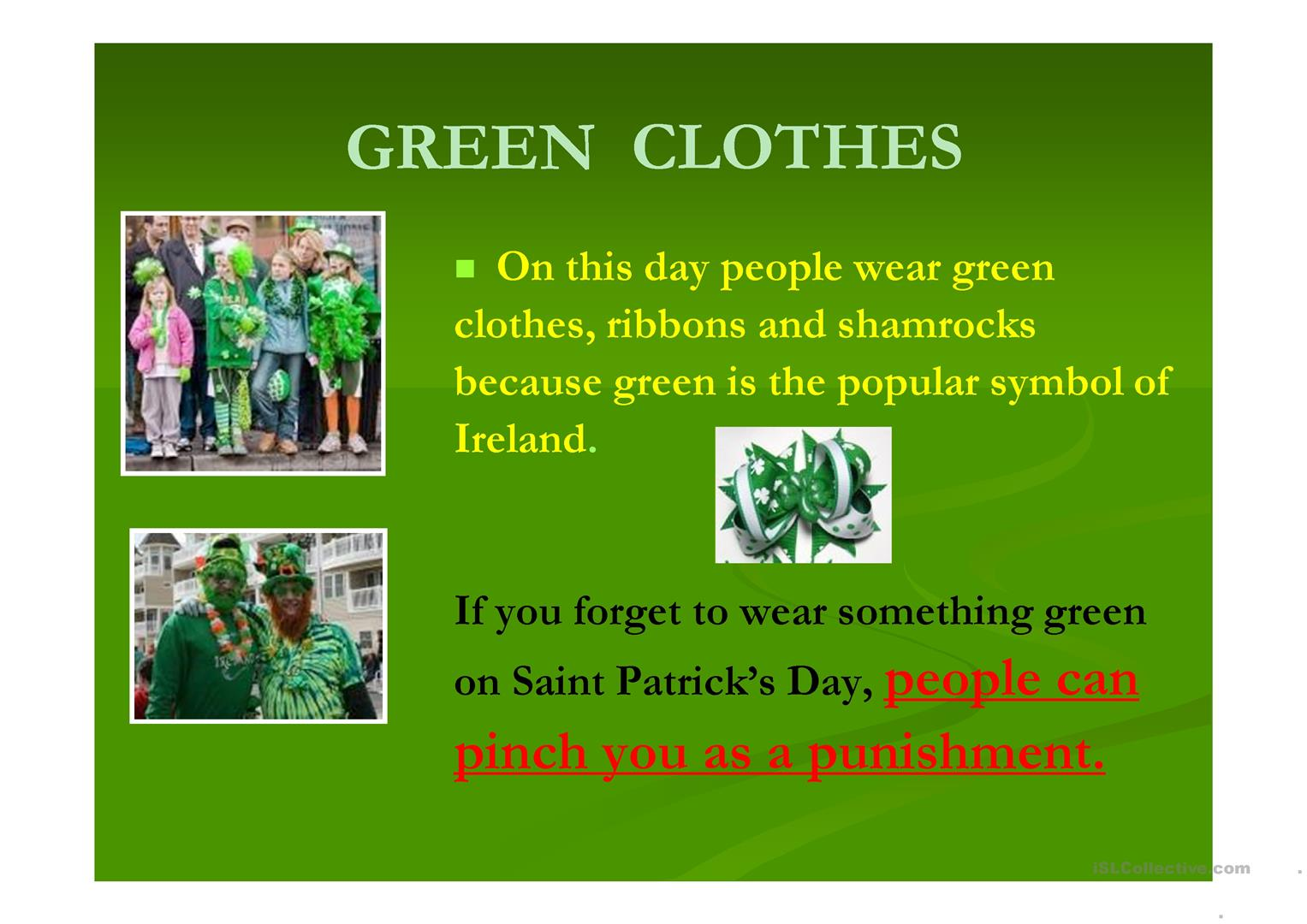 st patrick's day - short story (powerpoint - 10 slides) worksheet, Powerpoint templates