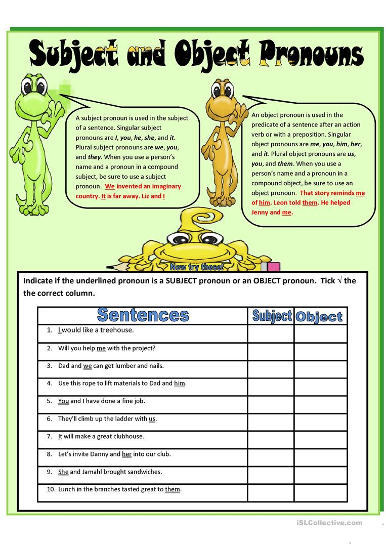 Subject And Object Pronouns Quiz   ProProfs Quiz further 65 FREE ESL object pronouns worksheets likewise Subject Object Pronouns ESL Activities Games Worksheets likewise Subject And Object Pronouns Subject And Object Pronouns Task Cards as well Subject And Object Pronouns Exercises Worksheets Possessive additionally  as well Pronouns Worksheets With Answers Pronoun Teaching Ideas Website Best likewise Subject and Object pronouns  exercises  worksheet   Free ESL also Subject and Object Pronouns in addition SUBJECT AND OBJECT PRONOUNS worksheet   Free ESL printable besides Subject And Object Pronouns Worksheets Teaching Resources   Teachers together with Free Subject And Object Pronoun Worksheets Pronouns Worksheet Of Wor besides subject and object pronouns Interactive worksheets furthermore  further Subject and Object Pronouns  Grade 5    Printable Test Prep  Tests together with . on subject and object pronouns worksheet