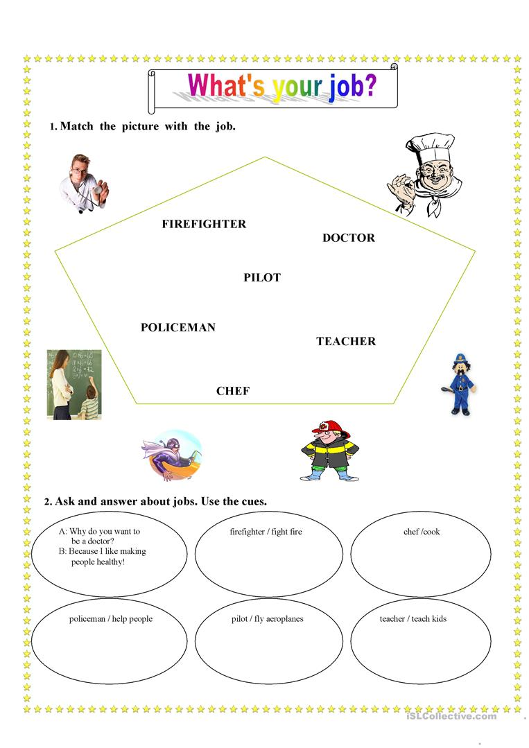 What's your job? - English ESL Worksheets