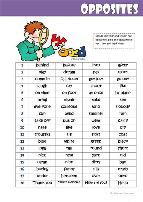 Learn Opposites For Kindergarten | English Words For Children ...