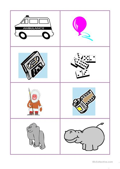 photo relating to Abc Cards Printable named Established of ABC Playing cards Pics worksheet - Cost-free ESL printable