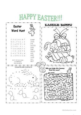 210 FREE ESL Easter Worksheets