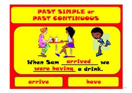 36 free esl past simple vs continuous tense powerpoint