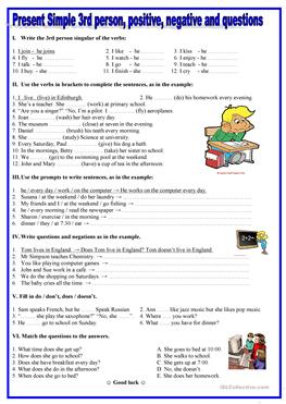 3109 free esl present simple tense worksheets for What will my future family be like quiz