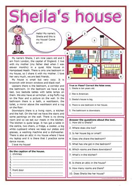 121 Free Esl Rooms In The House Worksheets