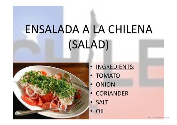 Chilean typical food