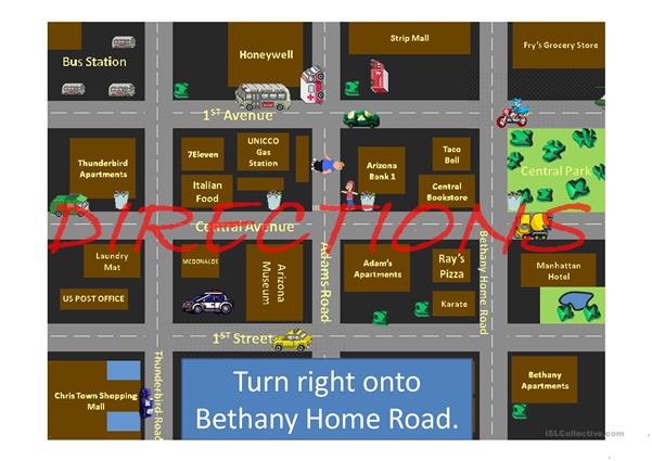 Directions driving in the city part 2