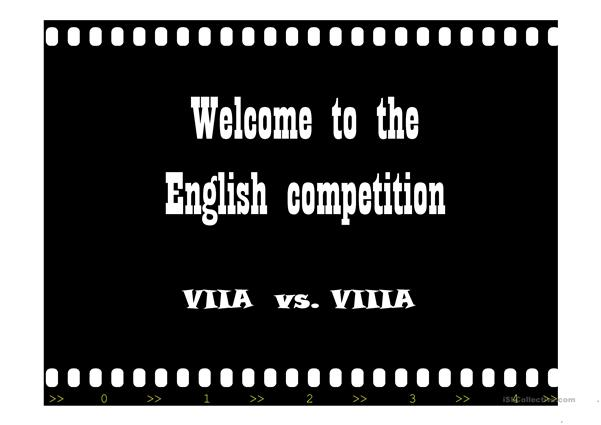 English competition between classes 7 and 8
