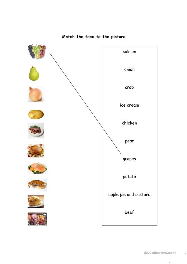 FOOD VOCAB_PICTURE MATCH