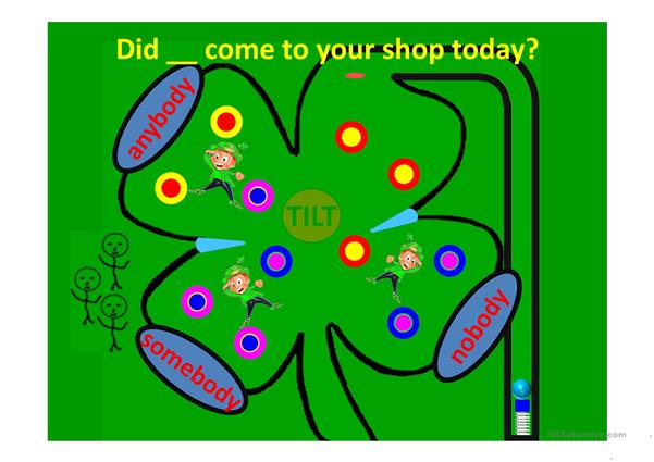 INDEFINTE PRONOUNS FOUR LEAF CLOVER PINBALL GAME PART 1