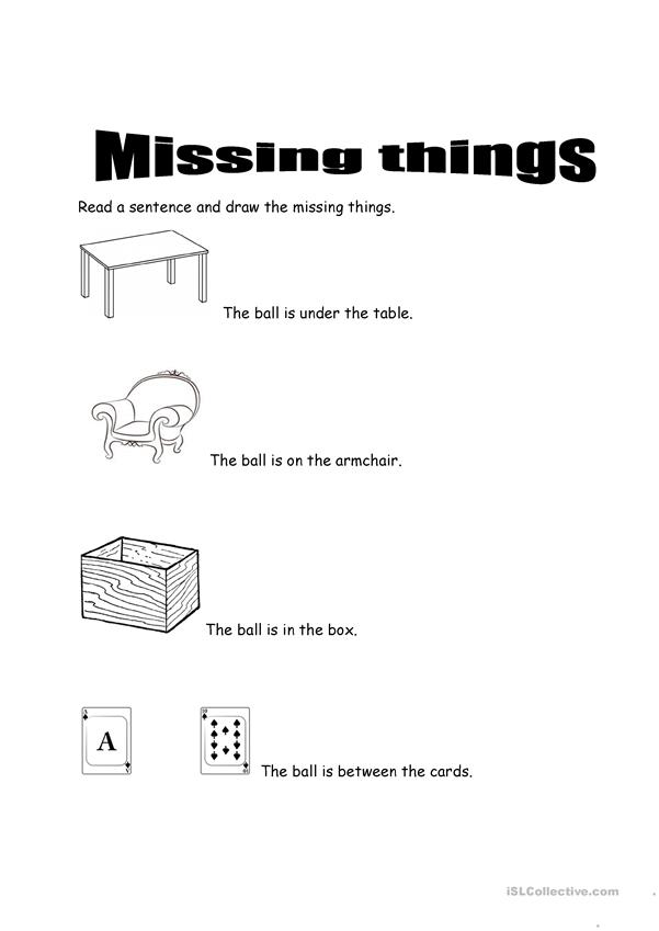MISSING THINGS
