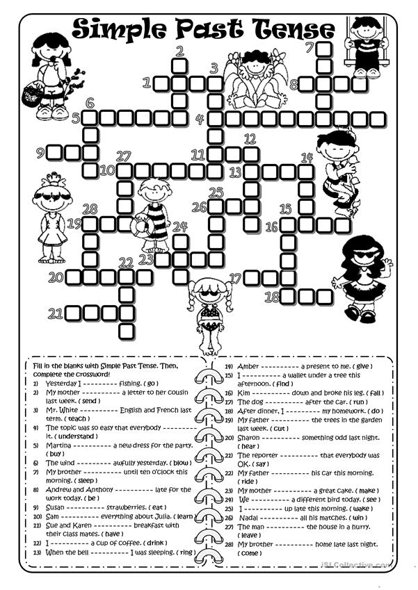 PAST SIMPLE- Crossword