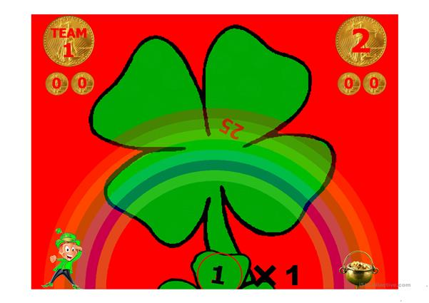 Personal Pronouns Four Leaf Clover Game