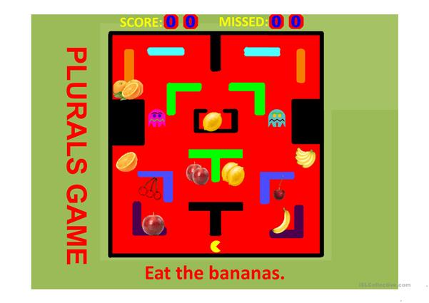 Plurals FRUIT PACMAN GAME Part 1