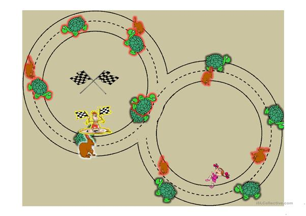Prepositions of movement Rabbit and Turtle Race