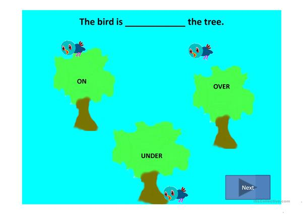 Prepositions of place with sound