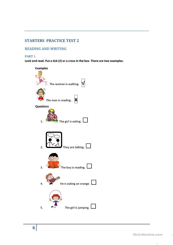 STARTERS PRACTICE TESTS