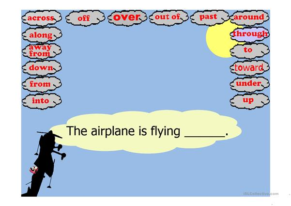 Stunt Airplane Prepositions of Movement Game