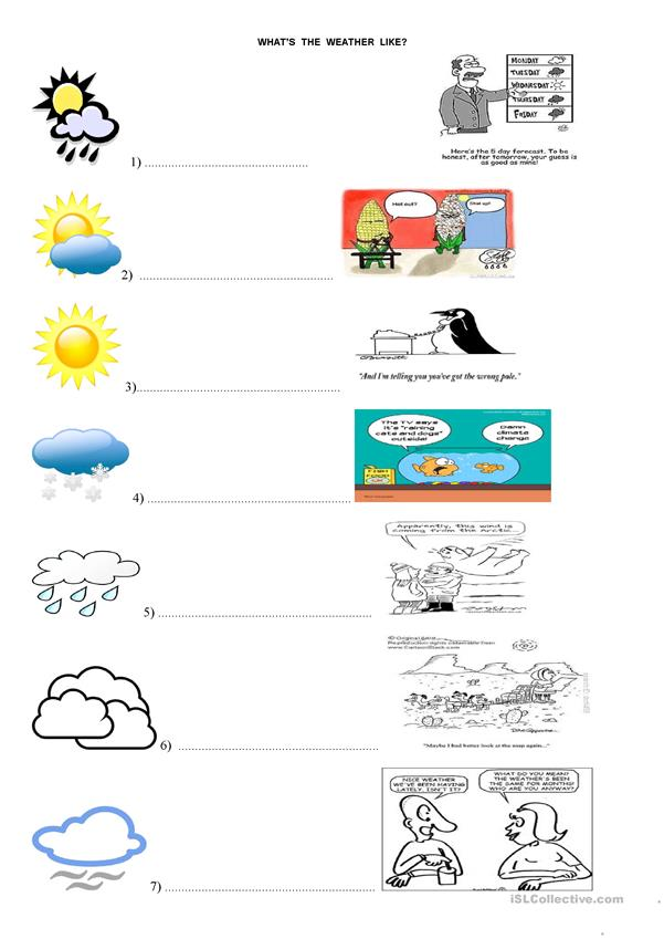 WEATHER AND CARTOONS