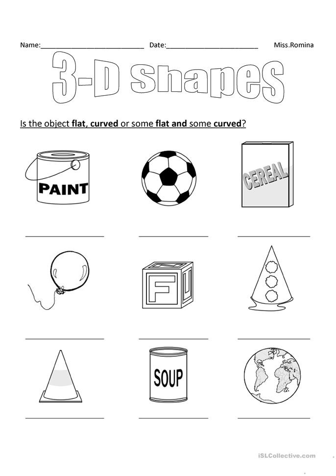 Free Worksheets 2d and 3d shapes worksheets for grade 3 : Naming 3d Shapes Worksheet Ks1 - teacher s pet ks2 3d ...
