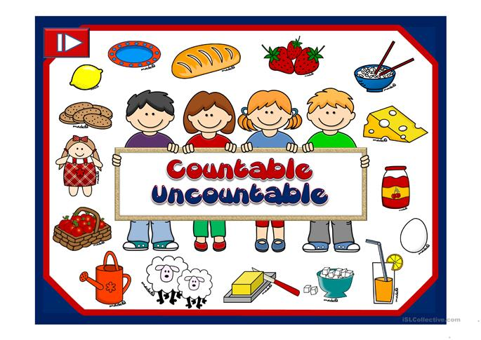 Countable and uncountable nouns worksheet - Free ESL projectable ...