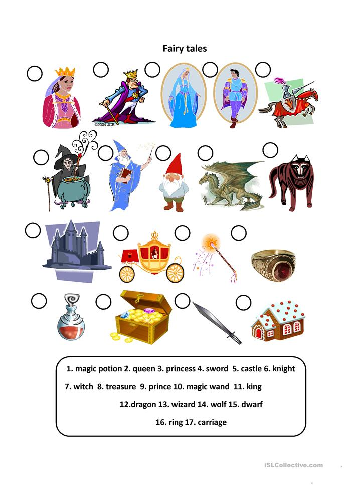 Fairy tales - ESL worksheets