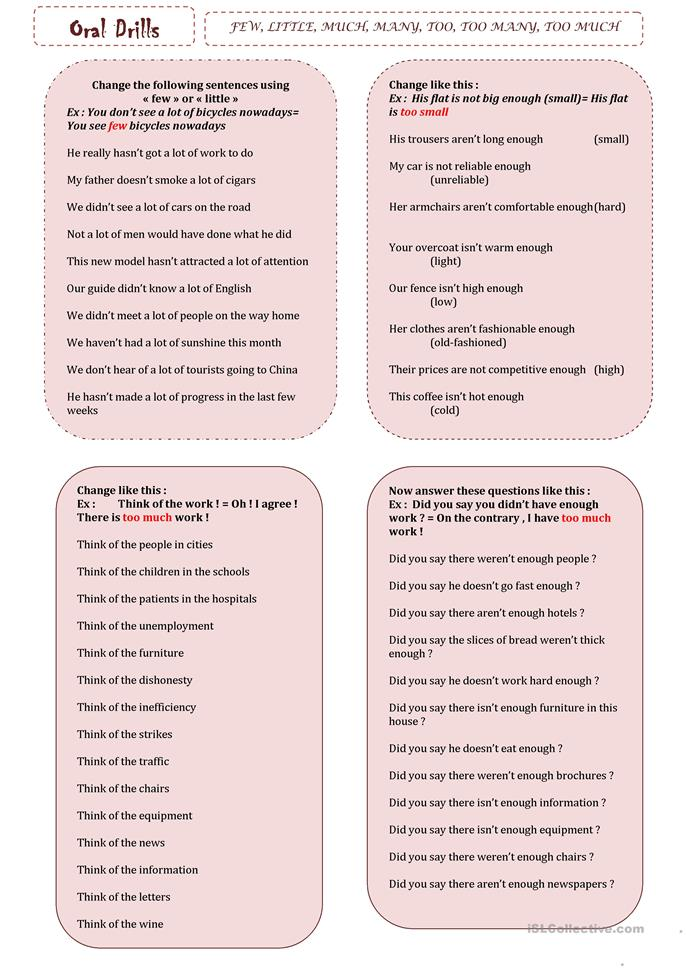 big_21752_few_little_much_many_too_too_many_too_much_1 English Worksheets Much Many on was were worksheets, preschool phonological awareness worksheets, wedding guest list worksheets, some any worksheets, preschool community helpers worksheets, double negatives worksheets, can and may worksheets, have has worksheets, skip counting worksheets, i and me worksheets,
